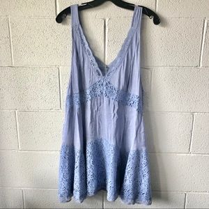 Free People lace trimmed dress Size Small/S